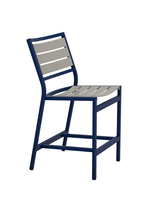patio armless aluminum slat counter height stool