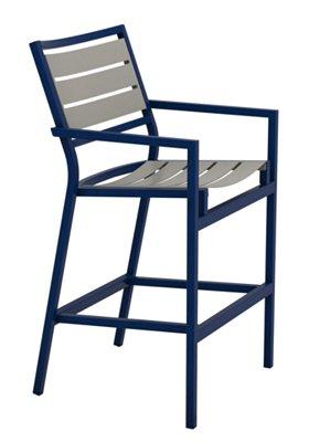patio aluminum slat bar stool