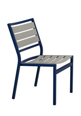 patio aluminum slat side chair