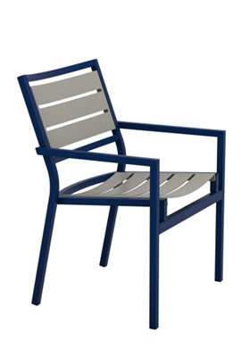 outdoor aluminum slat dining chair