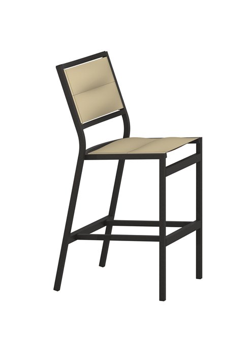 outdoor padded sling armless stationary bar stool