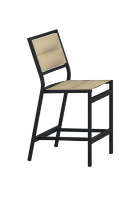 outdoor padded sling armless counter height stool