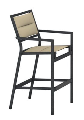 patio club padded stationary bar stool