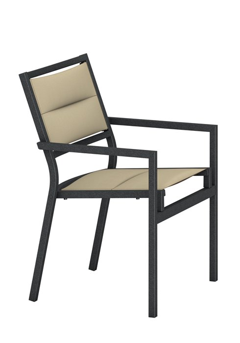 outdoor padded sling dining chair