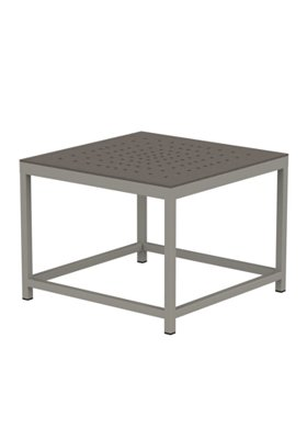 outdoor club patterned square end table