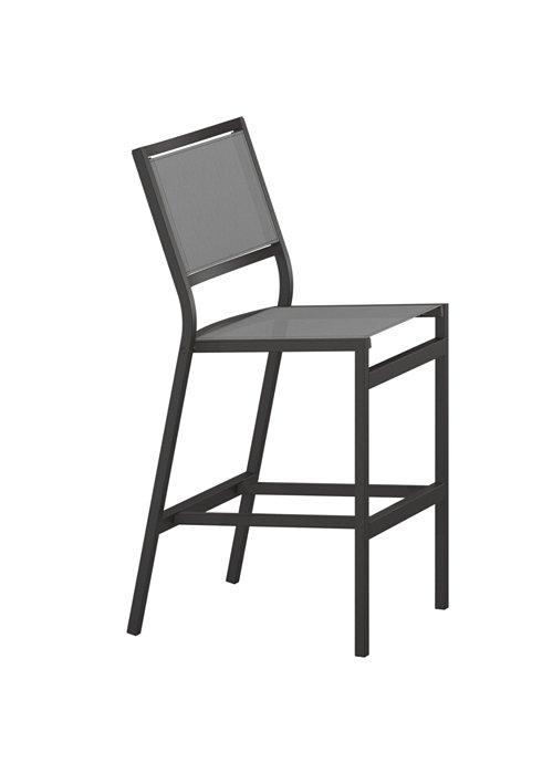 patio sling armless bar stool