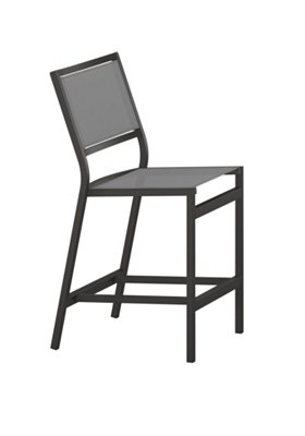 outdoor sling armless counter height stool