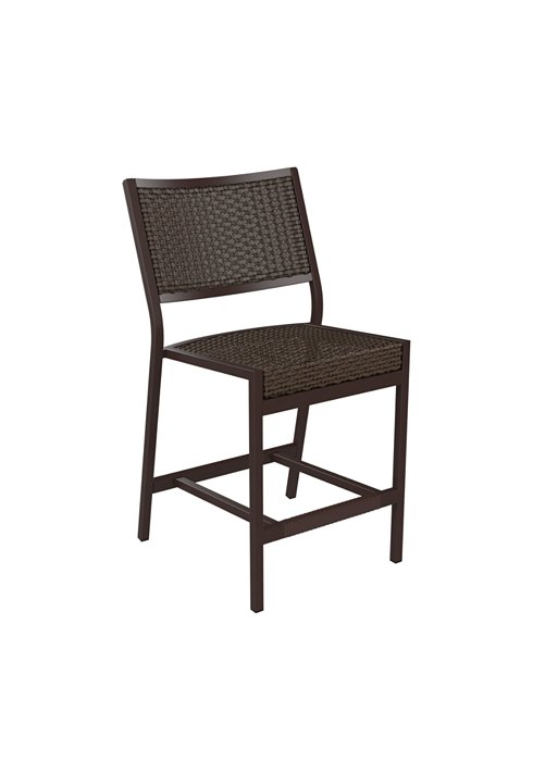 patio woven armless counter height stool