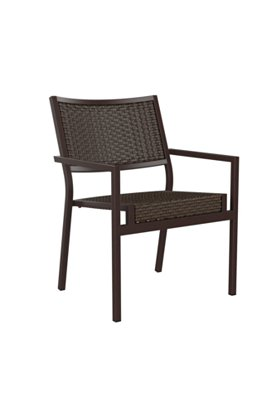 patio woven dining chair aluminum frame