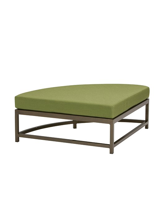 outdoor cushion curved ottoman