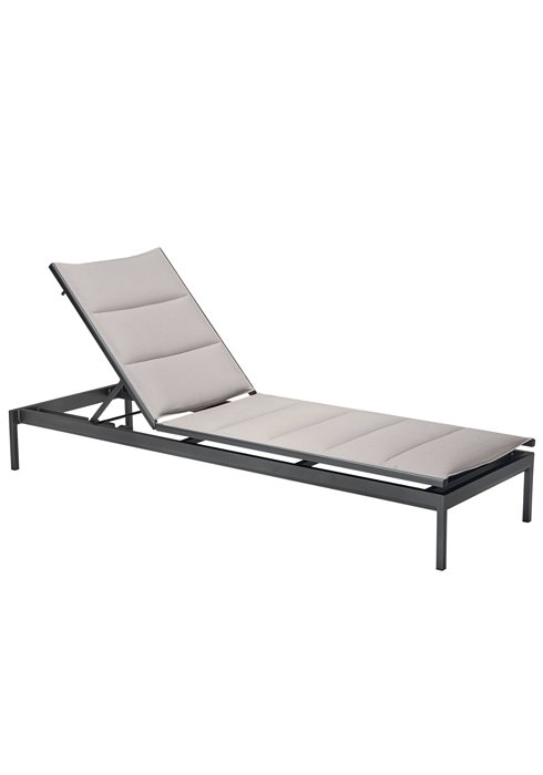 Chaise Lounge Patio Furniture Repair: Cabana Club Padded Sling Chaise Lounge