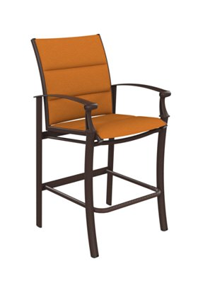 patio padded sling bar stool