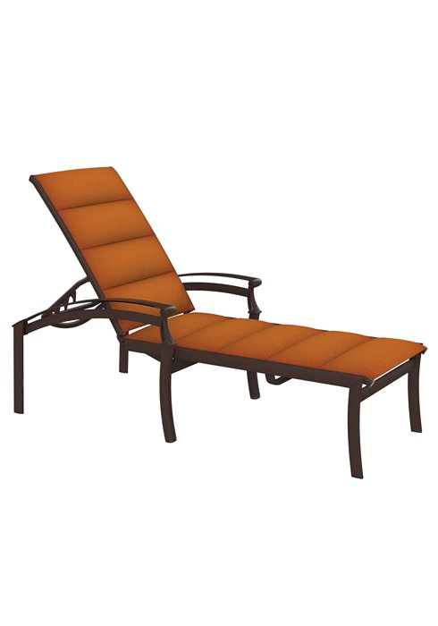 outdoor padded sling chaise lounge