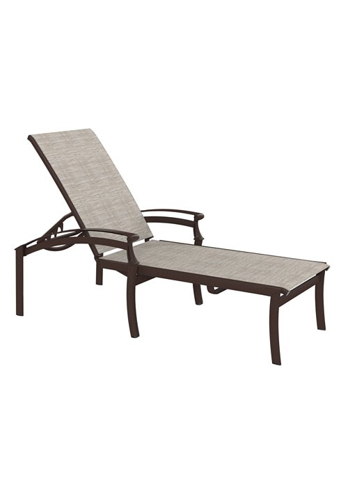 outdoor relaxed chaise lounge
