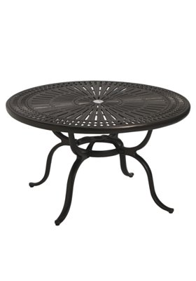 round patio chat umbrella table