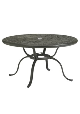 round outdoor chat umbrella table