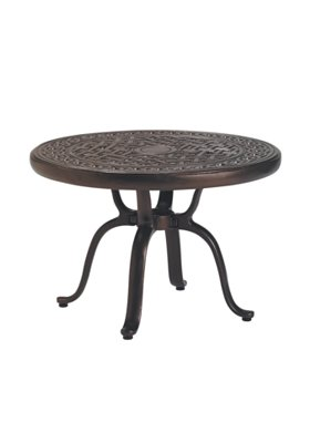 round patio tea table
