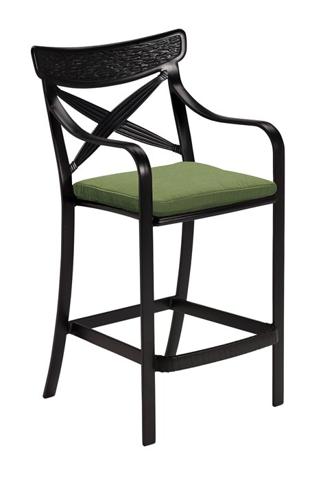 patio bar stool with seat pad