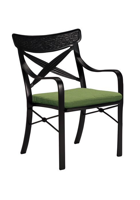 outdoor dining chair with seat pad