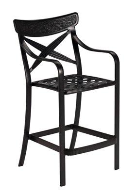 outdoor aluminum bar stool