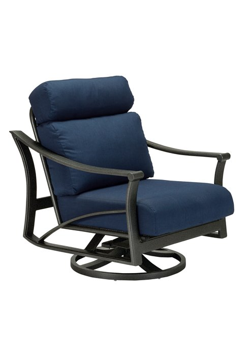 outdoor cushion swivel action lounger