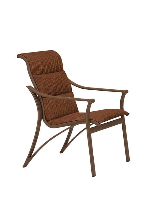 patio padded sling dining chair