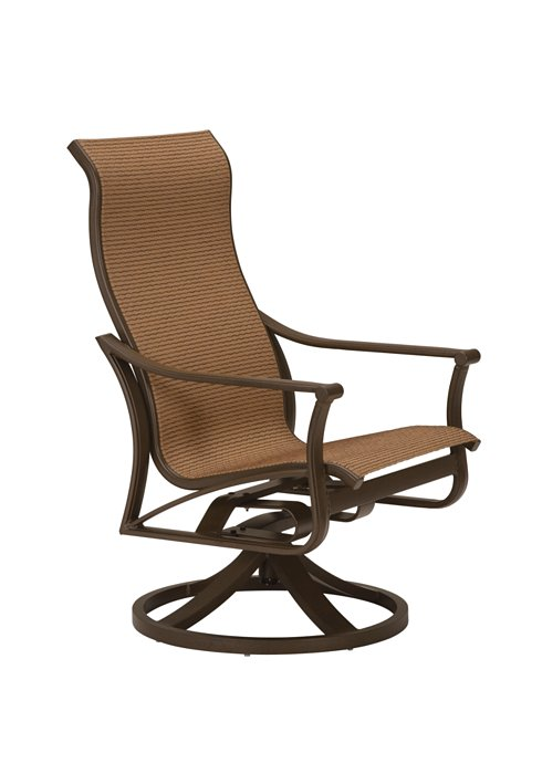 Corsica Sling High Back Swivel Rocker - Swivel Rocker Chairs Outdoor Seating Outdoor Chairs