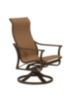 Patio Sling High Back Swivel Rocker