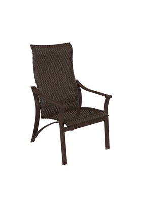 outdoor woven high back dining chair