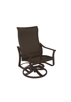 patio woven swivel action lounger