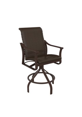 patio woven swivel bar stool