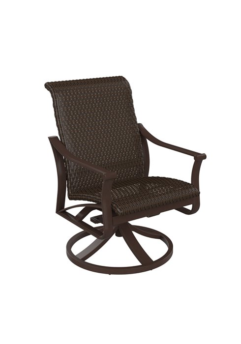 patio woven swivel rocker