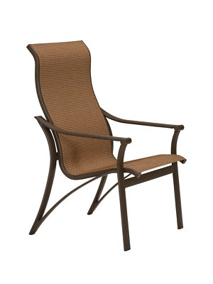 outdoor sling high back dining chair