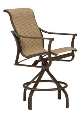 patio sling swivel bar stool