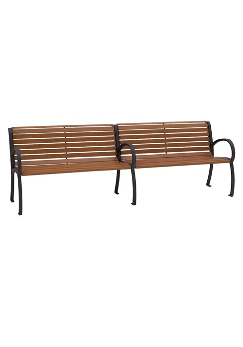 outdoor faux wood slate bench
