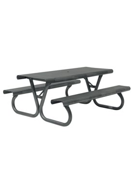 outdoor rectangular picnic table