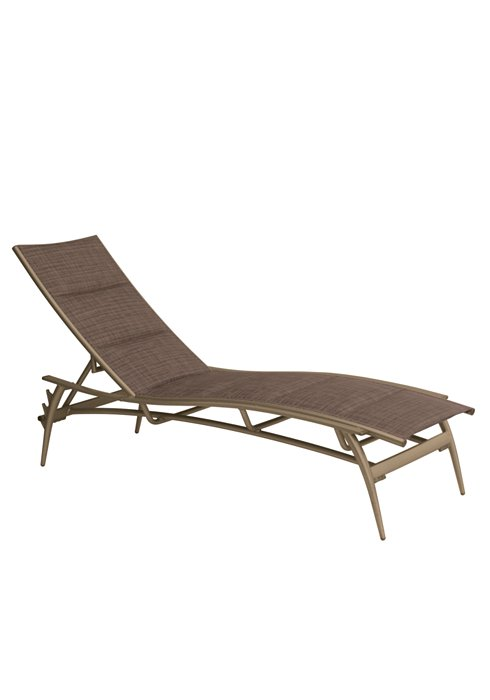 padded sling chaise lounge for outdoor