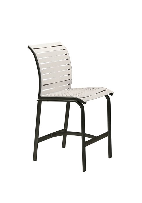 patio armless bar stool ribbon segment