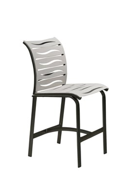 patio armless bar stool wave segment