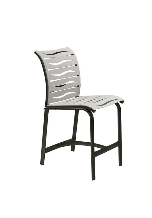 patio counter height stool wave segment