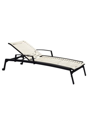 outdoor ribbon segment chaise lounge