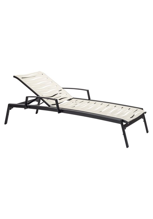 patio wave segment chaise lounge