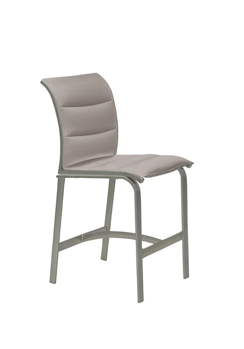 patio padded sling stationary bar stool
