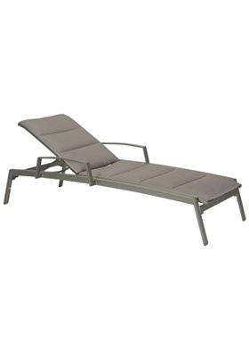 patio padded chaise lounge with arms