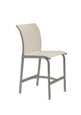 patio relaxed sling armless bar stool