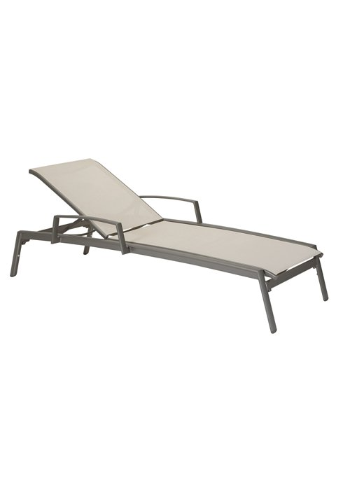 patio relaxed sling lounge with arms