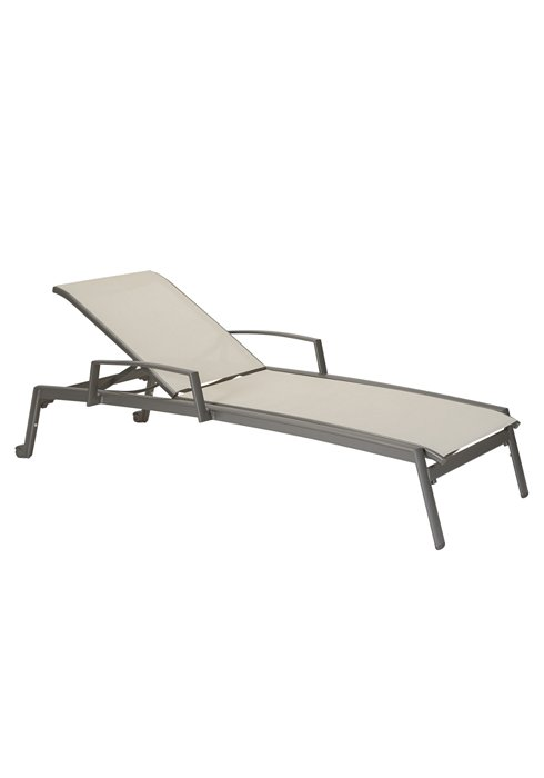 outdoor chaise lounge with wheels and arms