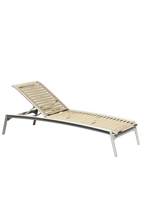 patio chaise lounge armless ribbon segment