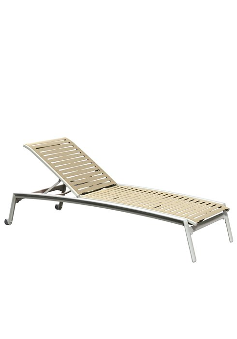 patio ribbon segment armless chaise lounge