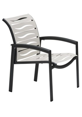 outdoor dining chair wave segment